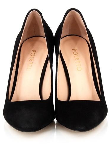 Poletto Kalın Topuklu Ayakkabı Siyah